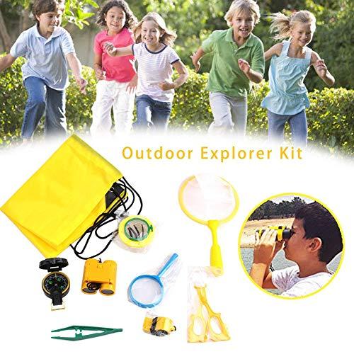 Generp Outdoor Exploration Kit, Kinderspielzeug-Fernglas, Kompass, Pfeife, Lupe, Käferfänger, tolles Kindergeschenkset für Camping, Wandern, Bildung und Rollenspiele