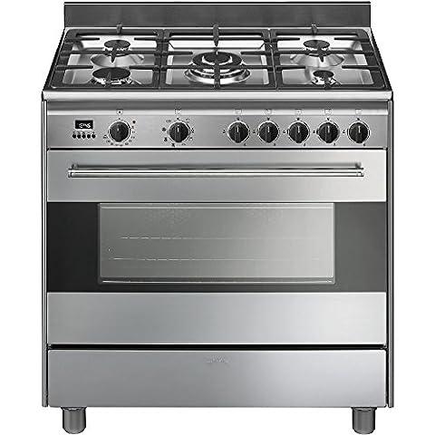 Smeg BG91CTX9 Autonome 115L A Acier inoxydable four et cuisinière