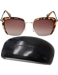 Tangda Lunettes de Soleil Vintage Rétro Polarisées UV400 Demi-Circle Lentille Rond Mode Sunglasses Classique Unisex Perfect pour Vacances/Shopping/Party
