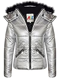 a0856dfcfea8 Amazon.co.uk  Silver - Coats   Jackets   Girls  Clothing