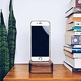 iPhone Dockingstation Holz für iPhone 7, 7 Plus, 6, 6 Plus, 5, 5s, 5c, SE, Apple Tv Dock, Handy Ladestation, Docking Station // Handmade in Germany von FORMGUT® // Nussbaum Massiv