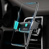 Soporte Móvil Coche Rejilla de Ventilación, USAMS Universal 360 Rotación Teléfono Móvil Soporte de Coche para iPhone 8/7 Plus/6S/6 Plus 5S se, Samsung Galaxy S8/S7/S6 Edge, GPS y Otros Smartphones de Hasta 6 Pulgadas