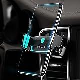 Handyhalter fürs Auto Lüftung Handyhalterung USAMS, KFZ Halterung Handy Halter Lüftungsgitter Universal 360 Grad drehbar Lüftungsschlitz Autohalterung für Apple iPhone X 8 7 6s 6 Plus, Samsung Galaxy bis 6 Zoll Smartphone