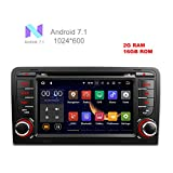 freeauto für Audi A3/S3 17,8 cm Android 7.1 Betriebssystem Quad Core Auto DVD Player mit Screen Mirroring Funktion & OBD2