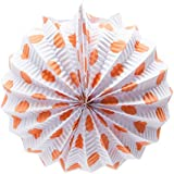 EuroFiestas Farolillo de Papel para Decoración de Feria con Gancho Lunares Naranjas