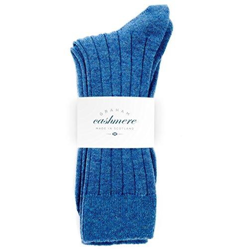 Pringle Cashmere (Graham Cashmere Herren Socken blau denim-blau, blau)