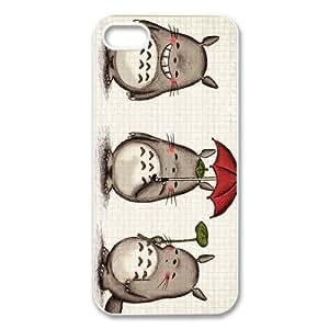 IPhone 5S Case,Coque iPhone 5S,Anime Japonais Totoro Silicone Housse Coque Etui Gel Case Cover Pour Apple iPhone 5 5S,Accessoires Housse de Protection Pour IPhone 5S