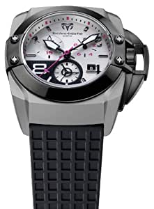 Technomarine Men's Chronograph Watch 909001 with Titanium Case and Grey Dial and Black Rubber Strap