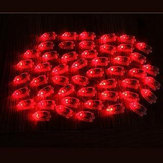 Bluelover 50Pcs / Lot Led Lampes Ballons Lumières Pour Papier Lanterne Ballon Multicolore Décor De Fête De Noël - Rouge