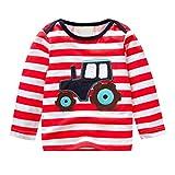 Yanhoo Kinderkleidung, Kindermode Herbst Winter Baby Mädchen Jungen Langarm Gestreift Cartoon Weichen Kleinkind Kinder Tops Shirt Bekleidung