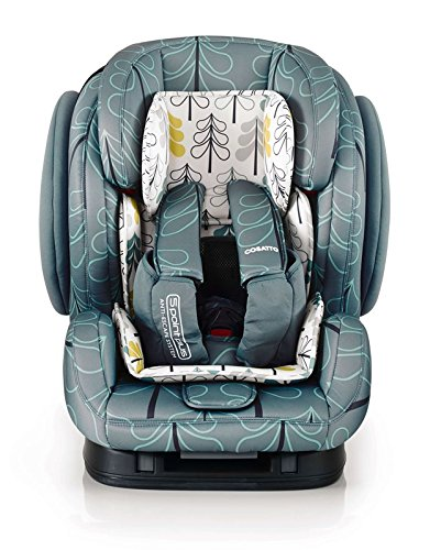 Cosatto Hug Isofix Car Seat Group 123, 9-36 kg, Fjord Cosatto Suitable from 9 kg-36 kg (9 months - 12 years approximatelyimately), Hug ISOFIX is an investment; it fits forward-facing in most cars with standard ISOFIX connectors and top tether anchor point The exclusive Five Point Plus Anti-Escape system deters determined wrigglers and diminishes driver distraction; it features extra-cushioned side impact protection for in-car security Impact protection for in-car security Hug ISOFIX has fabrics, a height-adjustable headrest and reclining padded seat for on-board comfort, plus easy-clean pop-off covers and liner to help you out 2