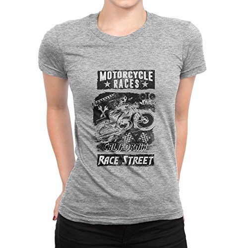 BLAK TEE Motorcycle Races California Race Street Damen T-Shirt XL