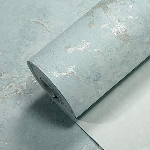 Wallpaper Einfacher nordischer Artebene gesprenkelte Beschaffenheits-Mattbeschaffenheits-Vliesfarbentapete Hotelcafé-Technikbekleidungsspeicher-Hintergrund-Tapeten (Color : Blau)