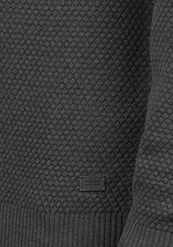 SOLID Karl O-Neck Herren Strickpullover mit Rundhalskragen aus 100% Baumwolle Dark Grey Melange (8288)