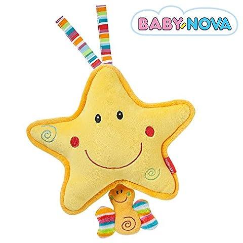 Baby-Nova Spieluhr Stern, Einschlafhilfe für Babys, Musikspieluhr Weißt du wieviel