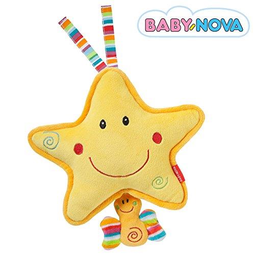 Baby-Nova Spieluhr Stern, Einschlafhilfe für Babys, Musikspieluhr Schlaf Kindlein schlaf, Schlafhilfe zum Aufhängen – weitere Melodien & Motive verfügbar