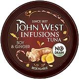 John West Infusiones De Atún Con Soja Y Jengibre 80g (Paquete de 6)