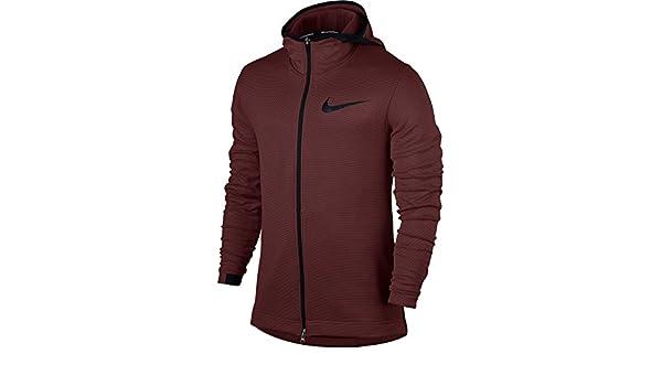3199fbd6fc62 Nike Men s Therma Flex Showtime Full Zip Basketball Hoodie (Dark Team  Red Tough Red