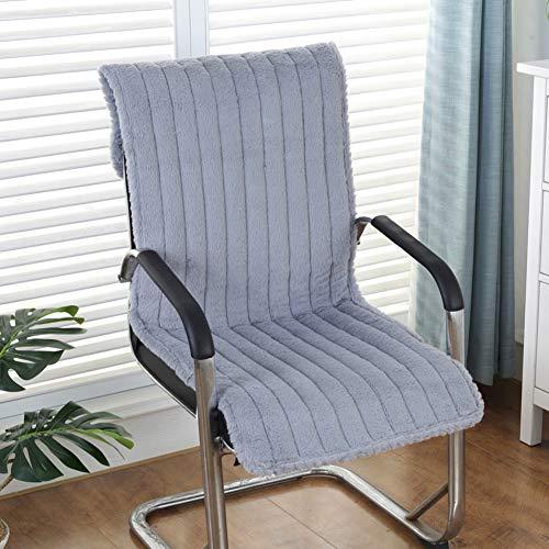 Gesteppte Stuhl-pads (GX&XD Verdicken sie Plüsch Stuhl-pad,Anti-rutsch Gesteppter Einteilige Stuhlkissen Essen Computer Stuhl Mat Lounge Stuhl Kissen Bench Kissen-Grau 40x135cm(16x53inch))