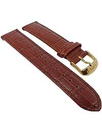333307cea5f5 Timex Classic Ersatzband Uhrenarmband Leder Band braun mit Krokoprägung  20mm für T2P449