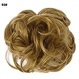 Haarverlängerungen, Dutt, Perücke, Haarteil, gewellt, wuschelig, Haargummi für Hochsteckfrisuren, Pferdeschwanz