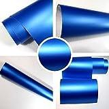 Autofolie Matt blau BLASENFREI 0,3m x 1,52m mit Luftkanäle 3D Flex