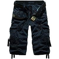 Mochoose Herren Sommer Casual Cotton Twill Cargo Shorts 3/4 Multi Taschen Outdoor tragen Hosen