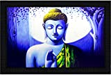 JSOnline Buddha Paintings || buddha painting || buddha wall paintings || Buddha Poster || Buddha wall Poster || buddha canvas painting || buddha paintings framed || buddha paintings with frame || buddha wall painting with frame || large size for living room|| bed room || home decor || home decoration synthetic wodden frame size 50 cm X 35.5 cm X 2cm