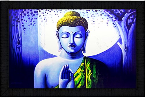 JSOnline Buddha Paintings || buddha painting || buddha wall paintings || Buddha Poster || Buddha wall Poster || buddha canvas painting || buddha paintings framed || buddha paintings with frame || buddha wall painting with frame || large size for living room|| bed room || home decor || home decoration synthetic wodden frame size 50 cm X 35.5 cm X 2cm  available at amazon for Rs.399