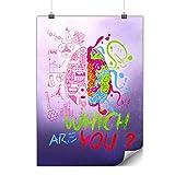 Wellcoda Welche Gehirn Nerd Geek Plakat Wählen A1 (84cm x 60cm) Mattes schweres Papier, Ideal für die Gestaltung, Einfach zu hängen Kunst