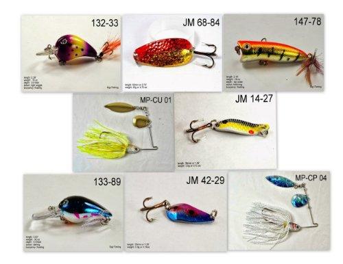Akuna [NE vor-'Pick EMPFEHLUNG Kollektion von Köder für Bass, Zubereitung der Fische, Forelle, Hecht und Glasaugenbarsch Angeln in Nebraska (Pfanne Fisch 8-a) - Nebraska Angeln