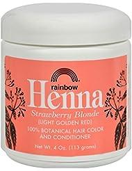 Rainbow Research Henné bio pour teindre les cheveux - Coloris Persian Strawberry (roux doré léger) - 113 g