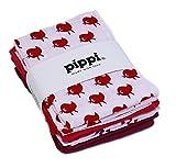 Pippi Baby Stoffwindeln Mullwindeln Spucktücher 4 Stück 1266 in pink (dark pink 577), Kleidergröße:ONE SIZE;Farbe:pink (dark pink 577)