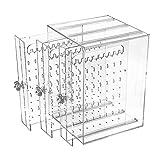 Caja Pendientes Caja Almacenamiento de Joyería de Acrilico Transparente...