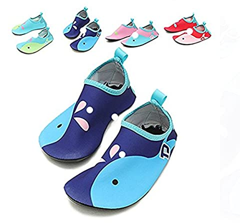 Kids Women and Men Sport Swim Water Shoes Barefoot Aqua Socks Shoes for Beach Pool Surf Swim Yoga Exercise (4-4.5 UK Toddlers,