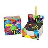 Mini Bloc de Notas Mágico con de Purple Ladybug Novelty | 150 Cartulinas Negras Rascables para Dibujar con Niños, Manualidades, Escribir Listas | Incluye 2 Lápices | Fondo ArcoirisHolografico