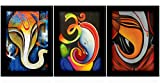 #5: TiedRibbons Ganesha paintings with frame for living room Paintings Set of 3 (13.6 inch X 10.2 inch)