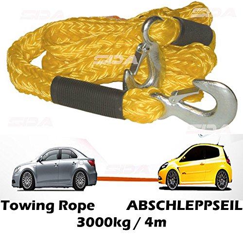 Dunlop Heavy Duty auto traino cavo 3000kg/4M gancio in metallo strada strumento di recupero Corda Traino van 4x 4Emergenza Essential Vehcile Pull Cintura