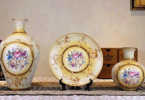 Mon5f Home Amerikanischen Dorf Retro Keramik Vase Für Mittelstücke Wohnzimmer Weihnachten Geburtstag Hochzeit Geschenk Desktop Home Decor
