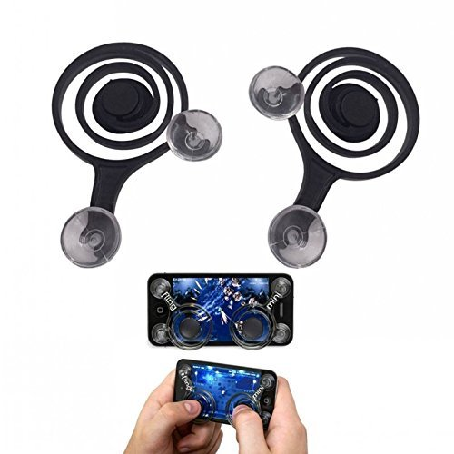 VistaraTrade Mobile Joystick Mobile Game Joystick Mini Joystick Phone Joystick Tablet Joystick Touch Screen Gamepad Joypad Game Controller For iPhone iPad Android . (Black)  available at amazon for Rs.279