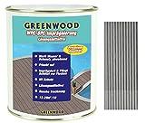 Greenwood - Premium WPC Pflege & Schutz Imprägnierung Hellgrau #5L 750ml - Lösungsmittelfrei - Keine Ausdünstungen - Haustierfreundlich - Schadstofffrei