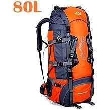 Mochila de 80 litros, ideal para deportes al aire libre, Senderismo, Trekking,
