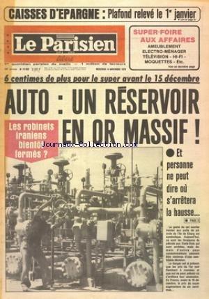 PARISIEN LIBERE [No 10932] du 14/11/1979 - CAISSES D'EPARGNE -
