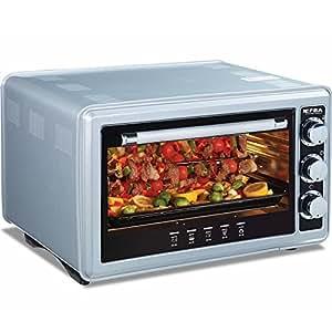 36 liter backofen mit drehspie 320 c 1500 watt miniofen minibackofen pizzaofen. Black Bedroom Furniture Sets. Home Design Ideas