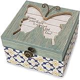 Pavilion Gift Company 41103 Simple Spirits - Patterned Butterfly Nana Jewelry Box,
