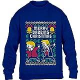 Kids Merry Dabbing Christmas - Trump Merkel Tanzend Kinder Pullover Sweatshirt XS 110/116 Blau