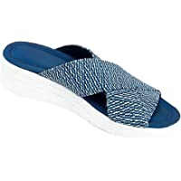 ERLINGO Stretch Cross Orthotic Slide Sandalen, rutschfeste Plattform Hausschuhe Casual Beach Slip On Komfort und…