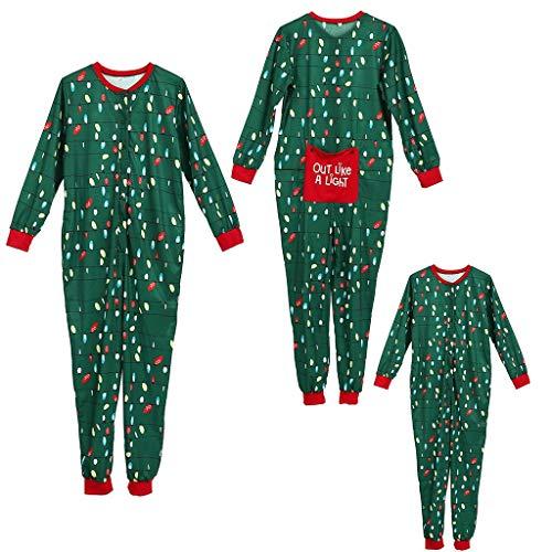 Scopri offerta per Lulupi Pigiama Natalizio Abbinato alla Famiglia Pigiama Elfo per Bambini Ragazzi Natale Regali per Ragazze Abbigliamento da Notte da Donna Completo da Uomo