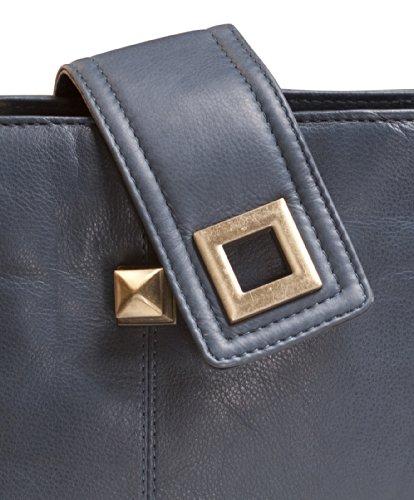 Brunhide Borsetta morbida design da donna in vera pelle con fibbia # 114-300 Blu Gran Descuento t16dQcnf83