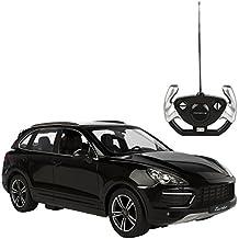 Rastar - Porsche Cayenne Turbo, coche teledirigido, escala 1:14, color negro